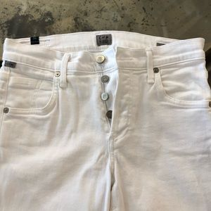 Citizens of Humanity White Jeans size 24
